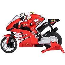 RC Motocicleta de Juguete Motor de Control Remoto RC Off-Road Racing con Cable USB ( Color : Rojo )