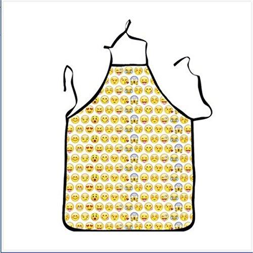Ndier Delantal Emojies Durable Emoji drôle para Hombre/Mujer Delantal de protección Delantal 2