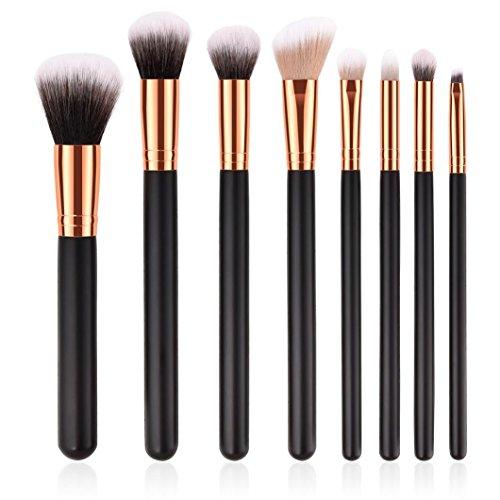 Pinceaux Maquillages,Cosmétique Brush,Beauté Maquillage Brosse,PowerFul-LOT 8PCS Fondation en Bois Cosmetic Eyebrow Fard à Paupières Pinceau Maquillage Brosse Ensembles Outils