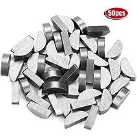 Woodruff Key - 50Pcs 45# Steel Semicircle Bond Woodruff Key Kit Accesorios 22 * 9 * 6mm