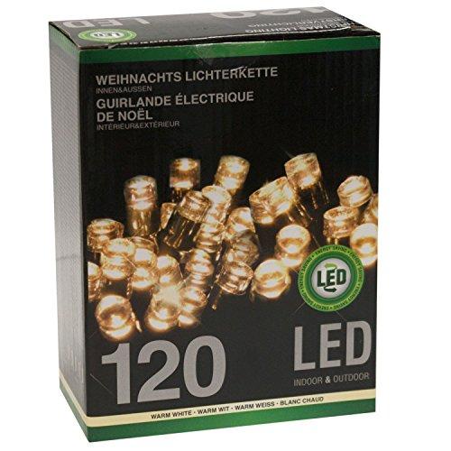 Indoor-outdoor-weihnachtsbeleuchtung (Lichterkette Lichtergirlande 120 LED Outdoor Indoor 12 m Warmweiß)