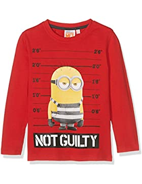 Minions Despicable Me Chicos Camiseta Mangas largas - Rojo