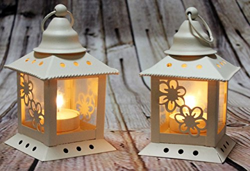 Link Products Lanterns Metal amp; Glass (Cream Chinese style)