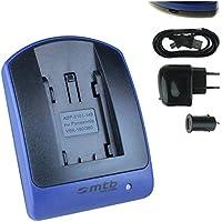 micro-USB cable Bateria-cargador dual a Panasonic vw-vbt190 vbt-380 hc-v757 incl