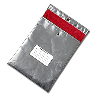 Safe Fire Resistant Protective Bag -Heavy Duty Fiberglass Fireproof Bag for Jewelry Protection Important Documents Passport Contract Money Certificate Cash Bank File and Precious Photos by Aoxun