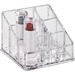 Shopperz Cosmetic Make Up Clear Acrylic Organiser Table Stand for Keeping Your Lipsticks, Nail Polish, Makeup Brush Set & Jewellery Holder Stand
