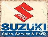KellySigns Wandschild, 20 x 30 cm, Suzuki Sales Service & Parts Motorrad Auto