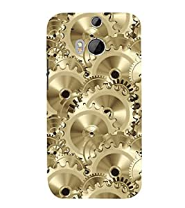 printtech Mechanical Wheel Back Case Cover for HTC One M8 / HTC M8