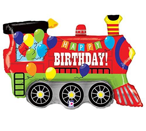 Burton & Burton Geburtstag Party Zug Motor Form Spielzeug Folie Ballon, 94cm