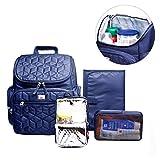 Aroha - Bolso Mochila Porta Pañales con Cambiador y Bolso Ventilado para Viaje (Azul)