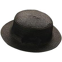 QUICKLYLY Familia Sombrero Paja Canotier Pescador Respirable de Protectora  del Sol Playa Sombrero Primavera Venaro para 16b0f00a7e3