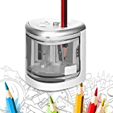 Quner Electric Pencil Sharpener,Double A Battery Operated Heavy Duty Colored Pencil Sharpener