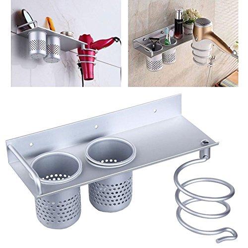 Kicode Home Bathroom Metal Hair Dryer Shelf Wall Mounted