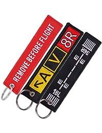 Étiquette de Bagages Broderie Sac Voyage Fashion Tag avec Porte-clés Cadeau spécial pour l'équipage de vol de l'aviation 3pcs