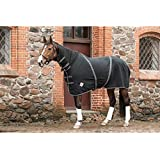 Catago Couverture pour cheval en polaire avec protection d'encolure