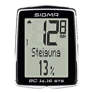 Sigma 01418 Ciclocomputador, Unisex adulto, Negro, Única