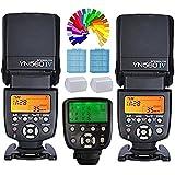 YONGNUO YN560IV Speedlite Speedlight Flash con zapata 2PC + YN560TXII C Trigger Controlador inalámbrico de Flash para Canon Eos DSLR Cámara 5D Mark IV III 6D 7D 7DII 600D 550D