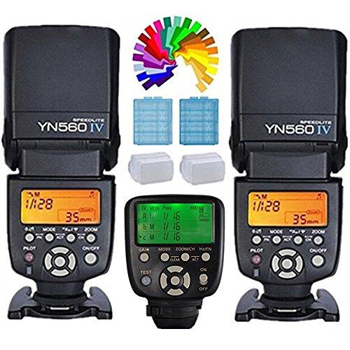 Yongnuo YN560IV Blitzgerät Blitz Speedlite 2PCS + YN560TXII C kabellose Auslöser Funkauslöser für Canon Eos Digital SLR Kemera 6D 7D 80D...