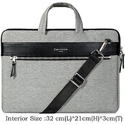 Kaixin 11,6Laptop Borsa a tracolla, Moderno Business Valigetta Tote Borsa con tasche per accessori (si adatta fino A 11.6MacBook, laptop, Ultrabook) grigio Gray 13,3''