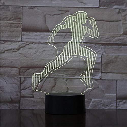 WEIBLICHE FRAU LÄUFER 3D Led Nachtlicht Touch Sensor Dekorative Lampe Kind Kinder Baby Kit Nachtlicht 3D Lampe Sport Fan s Geschenk @ Ohne Controller