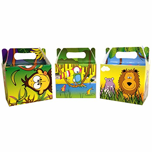 Kostüm Party Einfach Dschungel - PARTY DISCOUNT NEU Mitgebselbox Dschungel, 14x9,5x12 cm, 6 Stück