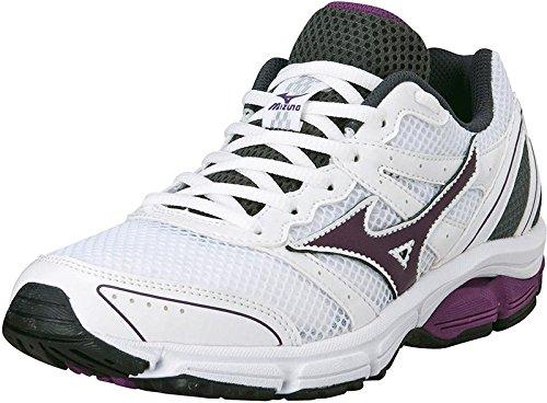 Mizuno Scarpa Running Sneaker Donna Wave Impetus 2 Bianco Viola Grigio
