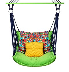 EA Velvet Swing Chair Jhula Zula Hammock Jumbo Adult Chair Cotton - Folding N Washable