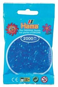 Desconocido Hama Perlen 501-15 - Mini perlas transparentes 2.000 unidades / azul Importado de Alemania