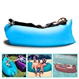 Flying Birds Outdoor Inflatable Hangout Portable Bag Lounger Plyster Fabric Suitable For Camping Beach Couch Inflatable Lazy Sofa