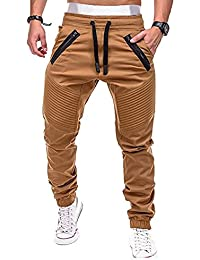 Youthny Homme Pantalon de Sport Loisir Hip-Pop Slim Fit en Coton Taille Elastique
