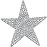 b2see Bügel-Strass Iron on Strass Stern-e Aufnäher Patches Bügelbilder Sticker Applikation Aufbügler Strass groß zum aufbügeln Waschbare Qualität Varianten (Silber, 7 cm)