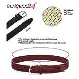 Glamexx24 Unisex Elastischer Stoffgürtel Geflochtener Stretchgürtel Dehnbarer Gürtel für Damen und Herren