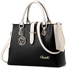 504fab2cbb861 BestoU Damen Handtaschen Schwarz groß taschen Leder moderne damen handtasche  gross schultertasche Frauen Umhängetasche