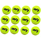 Cosco Cricket Tennis Balls - Yellow (Pack Of 12) With SportsHouse Wrist Band