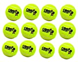 #10: Cosco Cricket Tennis Balls - Yellow (Pack of 12) with SportsHouse Wrist Band