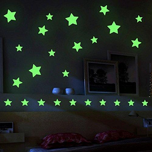 Mture Aufkleber Wandsticker Sticker, Sterne für Sternenhimmel Wandsticker, Fluoreszierend und im Dunkeln leuchtend, ideal für Kinderzimmer und Schlafzimmer