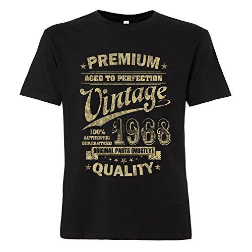 ShirtWorld - Aged to Perfection 1968 Zum 50. Geburtstag - Herren T-Shirt Schwarz XL
