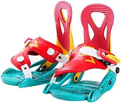 Microondas Kids 'snowboard-bindung, rojo/amarillo/verde, XS