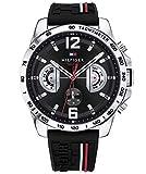 Tommy Hilfiger Unisex Multi Zifferblatt Quarz Uhr mit Silikon Armband 1791473