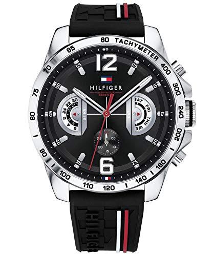 Tommy Hilfiger Unisex Multi Zifferblatt Quarz Uhr mit Silikon Armband 1791473 (Männer Tommy Hilfiger Reloj)