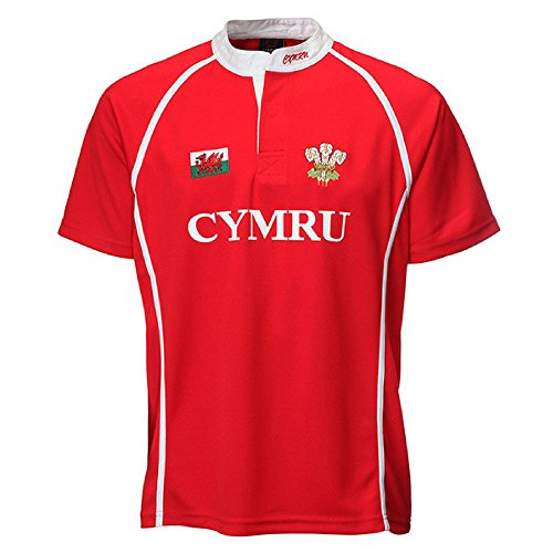 Wales CoolDry Performance Poly Junior Rugby-Shirt