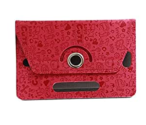 Stylabs Tablet Book Flip Case Cover For Samsung Galaxy Tab3 T211 P3200 P3210 (Universal) - Red Cover