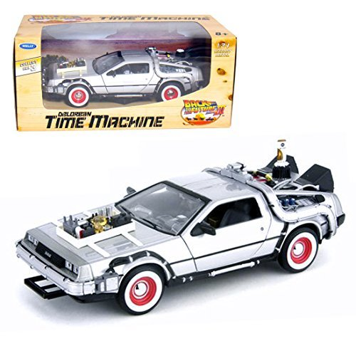 Back To The Future Part 3 1/24 scale die-cast minicar DeLorean time machine by Welly (Back To The Future Time Machine)