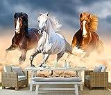 Yosot Moderner Traum Tapete Tierischem Öl Malerei Läuft Das Pferd Pferd Hintergrund Wandbilder Tapeten Für Wände 3D-200Cmx140Cm