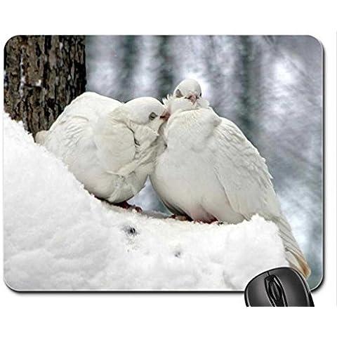 Love Piccioni Mouse Pad, Mousepad (Uccelli Mouse Pad)