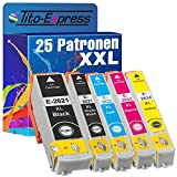 PlatinumSerie® Sparset 25 Tintenpatronen XXL kompatibel für Epson TE2621 TE2631 TE2632 TE2633 TE2634 Expression Premium XP-510 XP-520 XP-600 XP-600 Series XP-605 XP-610 XP-610 Series XP-615