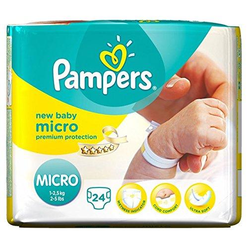 Windeln New Baby Größe 0 micro (1-2,5 kg) - Packung x 24 Windeln