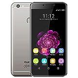 Oukitel U15S - Android 6.0 4G Smartphone 4GB RAM 32GB Octa Core 1,5 GHz 5,5 Zoll FHD IPS Bildschirm 8MP + 16MP Kamera-Fingerabdruck Ultra schlank - Grau