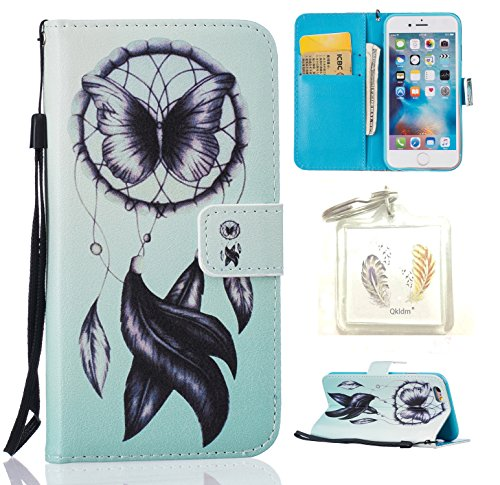 Coque Apple iPhone 6G / 6S Case Wallet Phone Stand Cover with Credit Card Slots Flip Protective Case For Apple iPhone 6G�?,7 pouces�?-photo Frame Keychain (HH) (11) 8