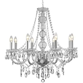 Searchlight marie therese 8 light clear crystal chandelier lighting searchlight marie therese 8 light clear crystal chandelier lighting aloadofball Choice Image
